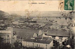 ORAN LE PORT VERS 1900